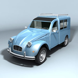 3d model of classic van minivan