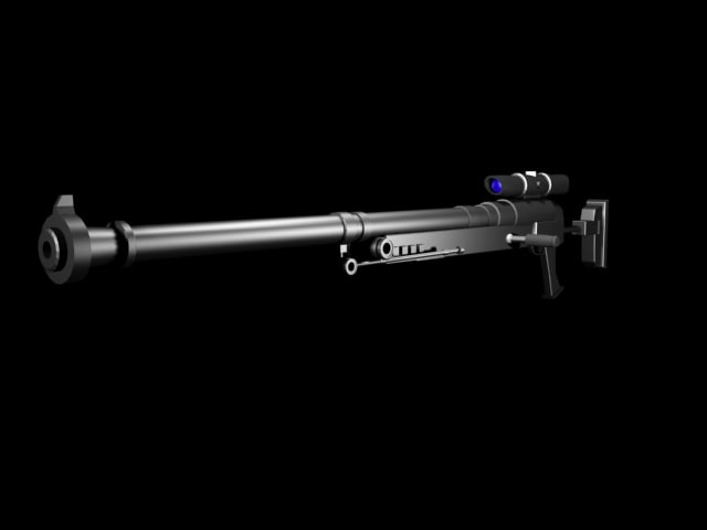 cannon rifle 3d max