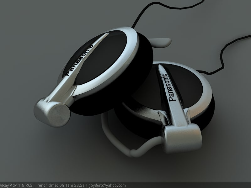 original panasonic headphones 3d max
