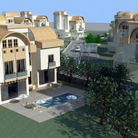 3d model of villa city