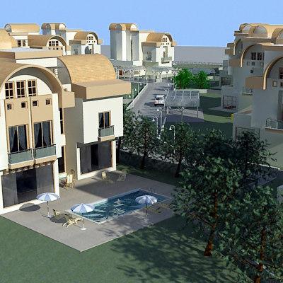 3d model of villa city