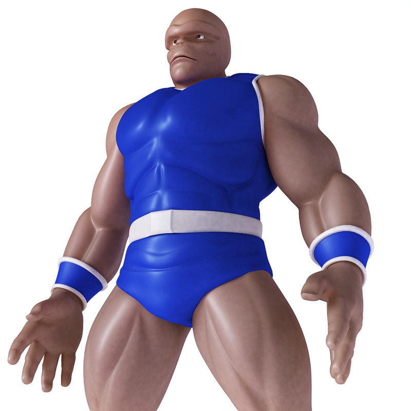 3d wrestler fighter character