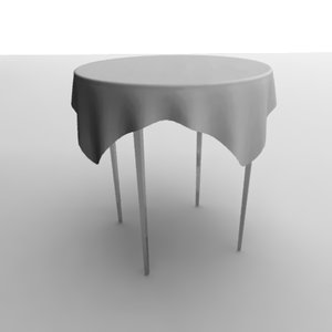 3ds max table tableclothes