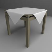 3d table tableclothes model