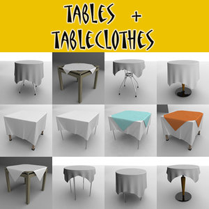 tables tableclothes 3d 3ds