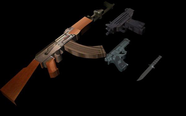 free 3ds model weapons