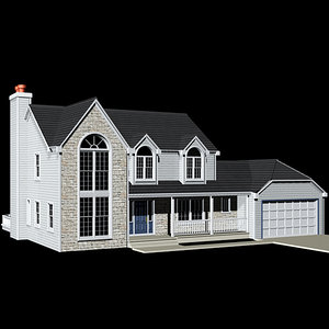 exterior contemporary house 3d max