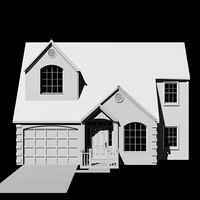 3d model exterior suburban house