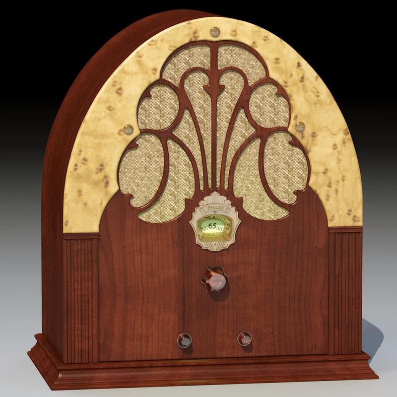 3d 1930s radio