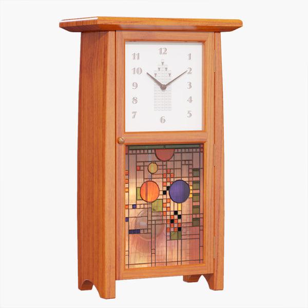 art deco clock 3d model