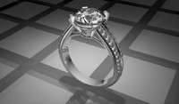 diamond engagement ring 2 3d model