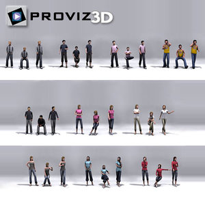 30 people: students 3d model
