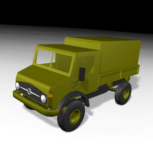 mercedes unimog truck transport 3d model