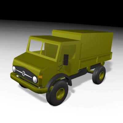mercedes unimog truck transport 3d model