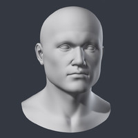 3ds polygonal male head
