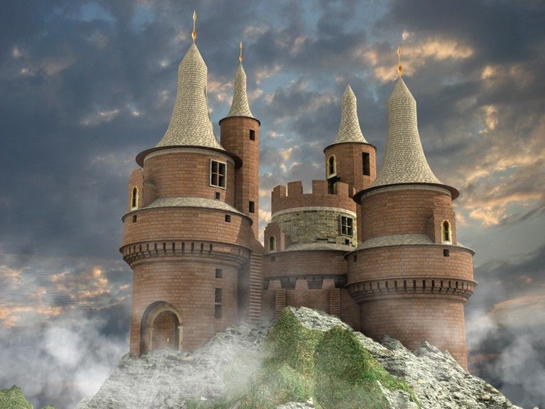 castle mountain 3d model