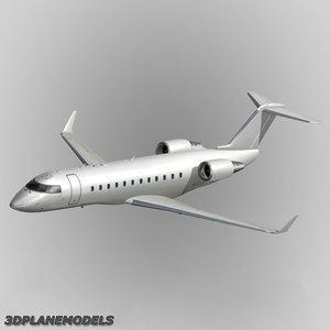 3d bombardier crj-200 generic white