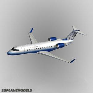 bombardier crj-200 3d model