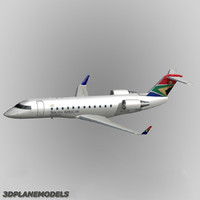 bombardier crj-200 south african 3d model