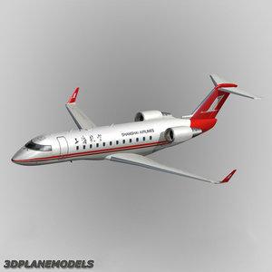 bombardier crj-200 shanghai airlines 3d model