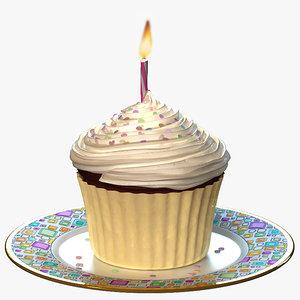 3d model cupcake celebration cake