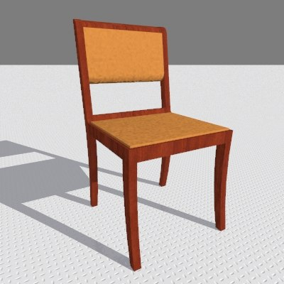 3d leopoldina chair model