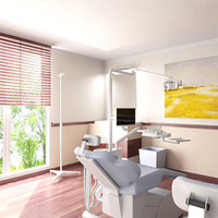 dentist dental interior 3d max