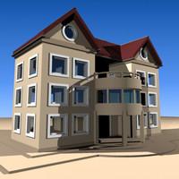 3dsmax house residance build