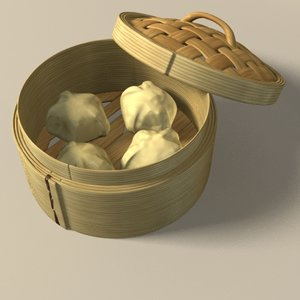 3d model chinese dimsum