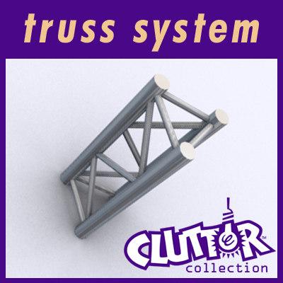 3d truss display cluttertruss model