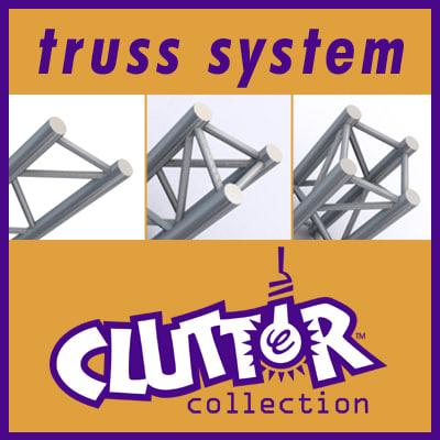 truss 1 clutter systems 3d 3ds