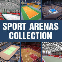 sport arenas basketball volleyball 3d c4d