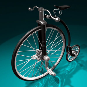 3d model old bicycle