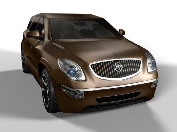 3d model buick enclave cxl 2008