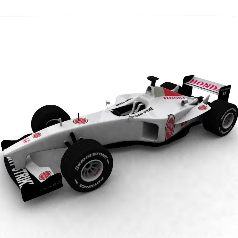 3d honda formula1 racer polygonal model