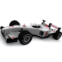 Honda Formula 1 Racing Car Low Polygonal