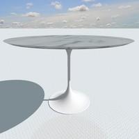 designed eero saarinen table 3d model