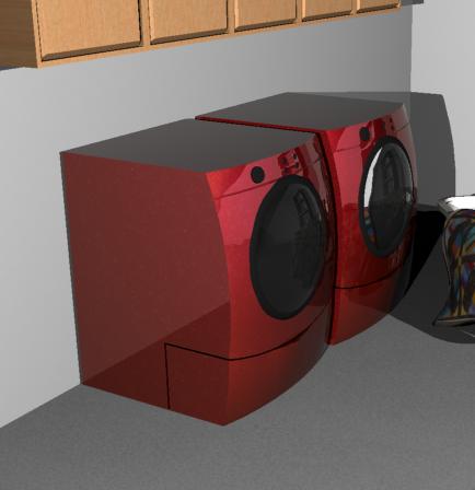 3d washer dryer car