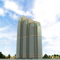3d highrise building model
