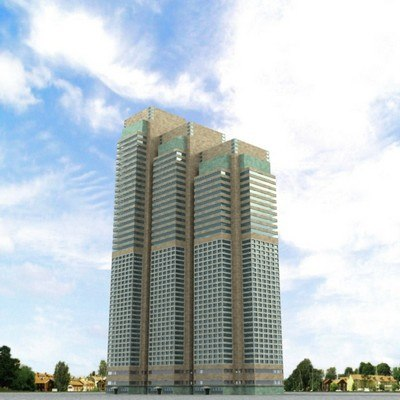 3d highrise building model