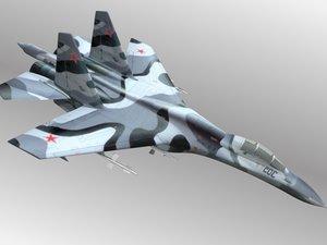 free flanker su-27 27 3d model