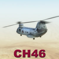 3d model of ch46 seaknight helicopter