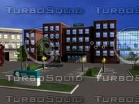 3d hospital buildings model