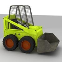 paver bobcat excavator 3ds