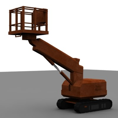 platforms crane industrial 3ds