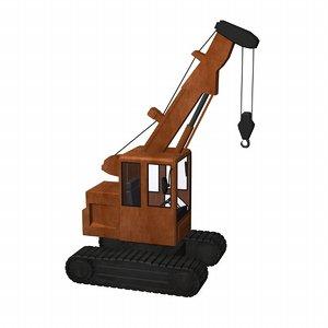 3d model crane telescopic