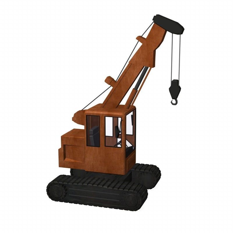 3d model crane telescopic