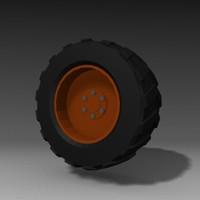 3ds max crane tire