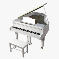 3d model gaveau upright piano