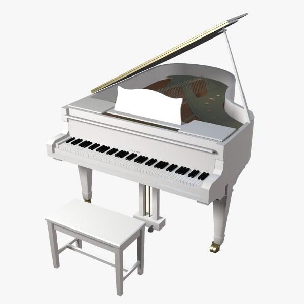 3d model gaveau upright piano